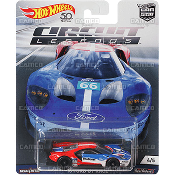 16 Ford Gt Race 2018 Hot Wheels Car Culture Circuit Legends E Case