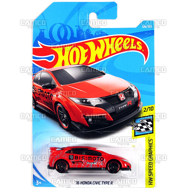 16 Honda Civic Type R 126 Red 2018 Hot Wheels Basic F
