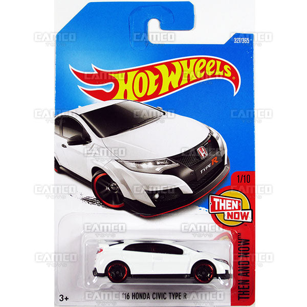 16 Honda Civic Type R #327 white (Then and Now) - 2017 Hot Wheels Basic Mainline P Case assortment C4982  by Mattel.