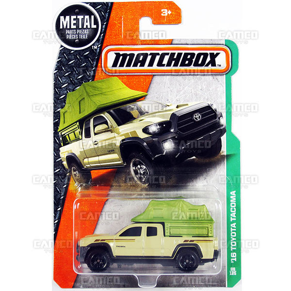 16 Toyota Tacoma #86 tan - from 2017 Matchbox Basic B Case Assortment 30782 by Mattel.