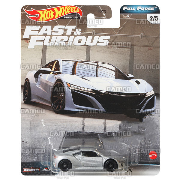 17 Acura NSX (Full Force) - 2020 Hot Wheels Premium FAST & FURIOUS Case H Assortment GBW75-956H by Mattel.