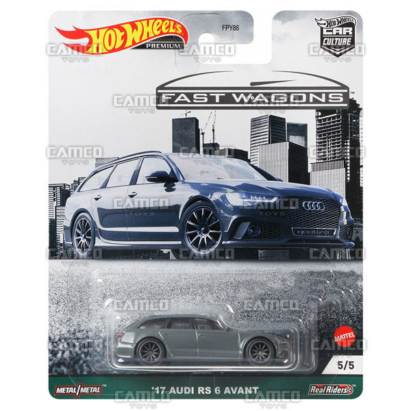 17 Audi RS 6 Avant - 2021 Hot Wheels Car Culture Fast Wagons Case B Assortment FPY86-957B by Mattel
