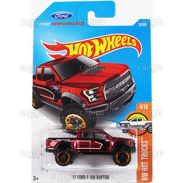 17 Ford F-150 Raptor #10 red (HW Hot Trucks) - from 2017 Hot Wheels basic mainline A case Worldwide assortment C4982 by Mattel.