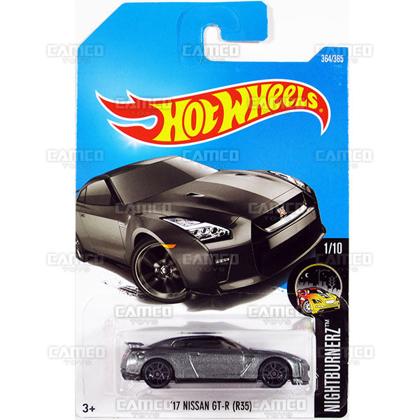 17 Nissan GT-R (R35) #364 grey (Nightburnerz) - 2017 Hot Wheels Basic Mainline Q Case assortment C4982  by Mattel.