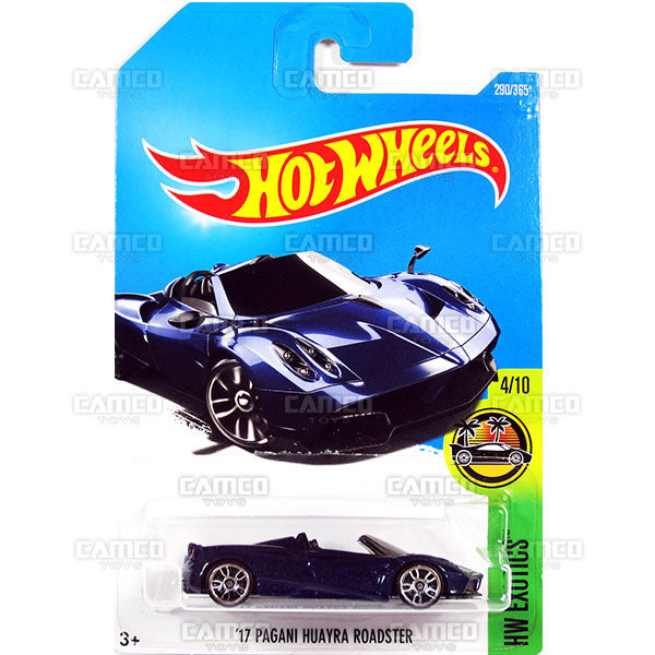 17 Pagani Huayra Roaster #290 blue - 2017 Hot Wheels Basic Mainline M Case assortment C4982 by Mattel