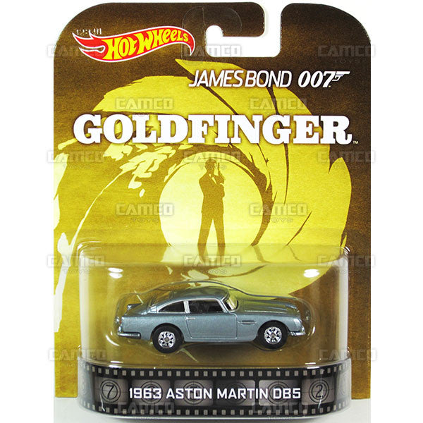 1963 ASTON MARTIN DB5 (James Bond 007) - 2015 Hot Wheels Retro Entertainment F Case BDT77-996F by Mattel