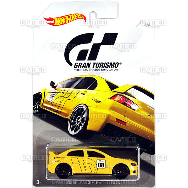 2008 Lancer Evolution - 2018 Hot Wheels GRAN TURISMO Case Assortment FKF26-999A by Mattel.