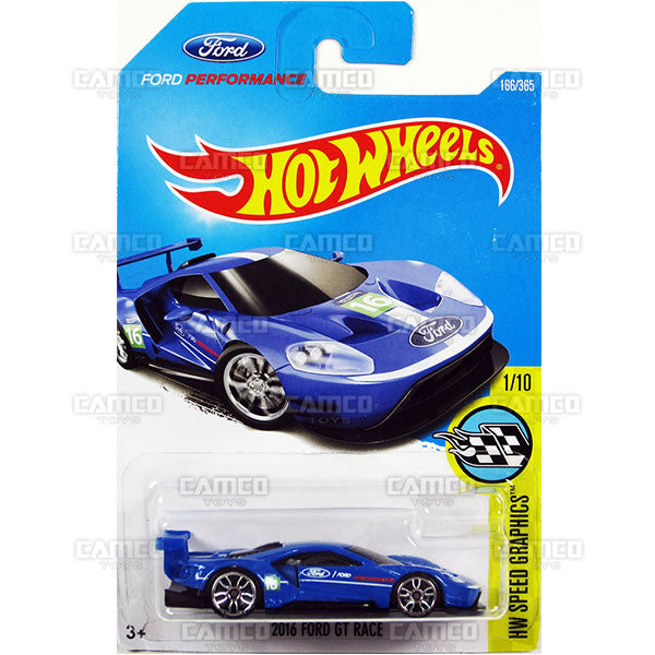 Ford Gt Race  Blue Hw Speed Graphics  Hot Wheels