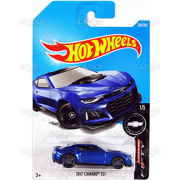 2017 Camaro ZL1 #360 blue (Camaro Fifty) - 2017 Hot Wheels Basic Mainline Q Case assortment C4982  by Mattel.