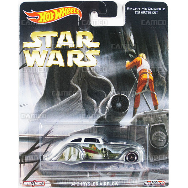 34 CHRYSLER AIRFLOW (Ralph McQuarrie) - from 2016 Hot Wheels Pop Culture F Case (STAR WARS) Assortment DLB45-956F by Mattel.