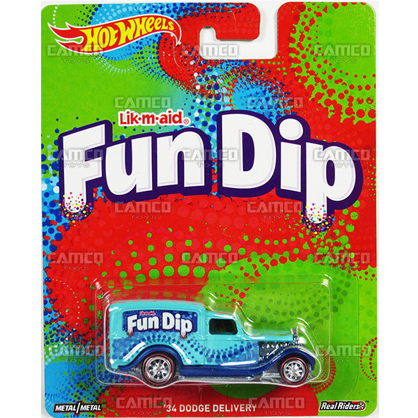 34 Dodge Delivery (Fun Dip) - from 2017 Hot Wheels Pop Culture G Case (NESTLE/WONKA) Assortment DLB45-956G by Mattel.