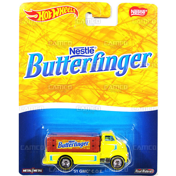 51 GMC COE (Butterfinger) - from 2016 Hot Wheels Pop Culture A Case (NESTLE) Assortment DLB45-956A by Mattel.