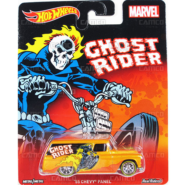 55 CHEVY PANEL (Ghost Rider) - from 2016 Hot Wheels Pop Culture C Case (MARVEL) Assortment DLB45-956C by Mattel.