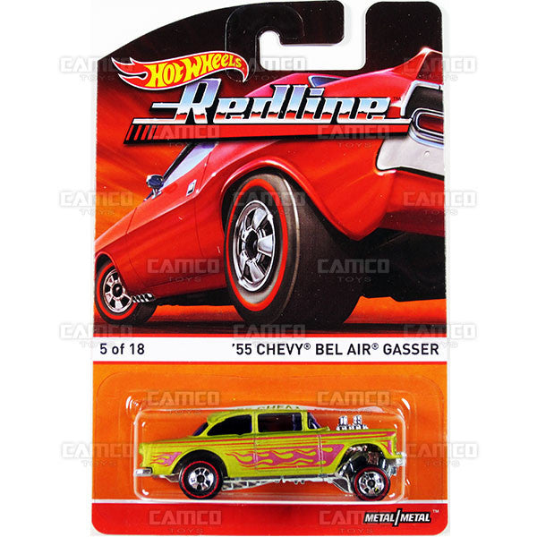 55 Chevy Bel Air Gasser - 2015 Hot Wheels Heritage B Case (Redline) Assortment BDP91-956B by Mattel.