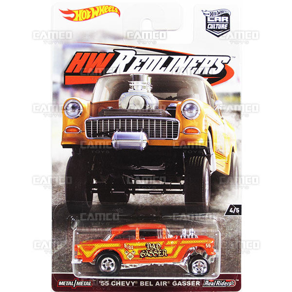 55 Chevy Bel Air Gasser - from 2017 Hot Wheels Car Culture G Case (REDLINERS) Assortment DJF77-956G by Mattel.