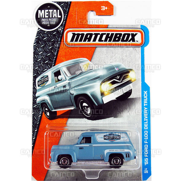 55 Ford F-100 Delivery Truck #17 - from 2017 Matchbox Basic A Case Assortment 30782 by Mattel.
