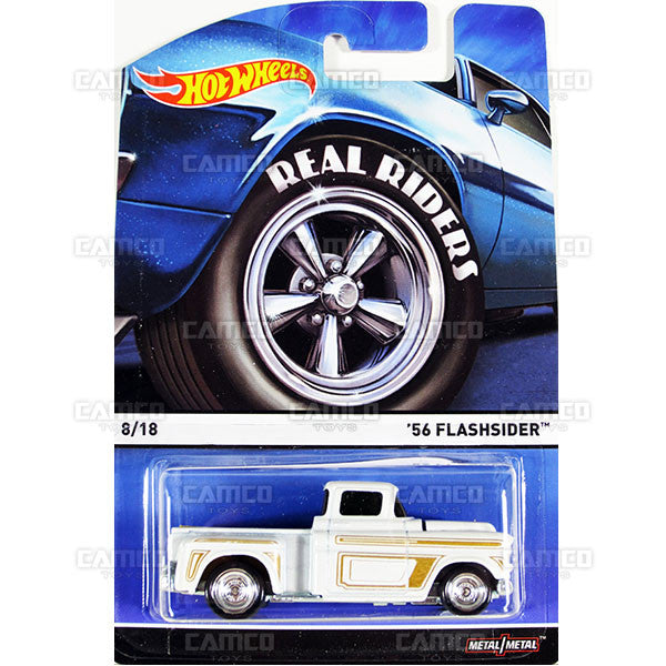 56 Flashsider - 2015 Hot Wheels Heritage C Case (Real Riders) Assortment BDP91-956C by Mattel.