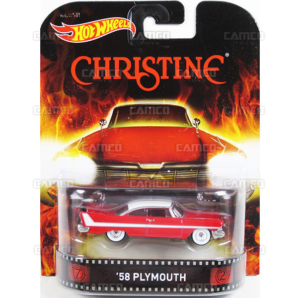 58 PLYMOUTH (Christine) - 2015 Hot Wheels Retro Entertainment G Case BDT77-996G by Mattel