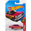 63 Chevy II #14 pink (HW Flames) - from 2017 Hot Wheels basic mainline A case Worldwide assortment C4982 by Mattel.