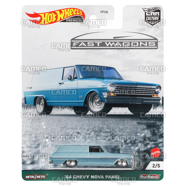 64 Chevy Nova Panel - 2021 Hot Wheels Car Culture Fast Wagons Case B Assortment FPY86-957B by Mattel