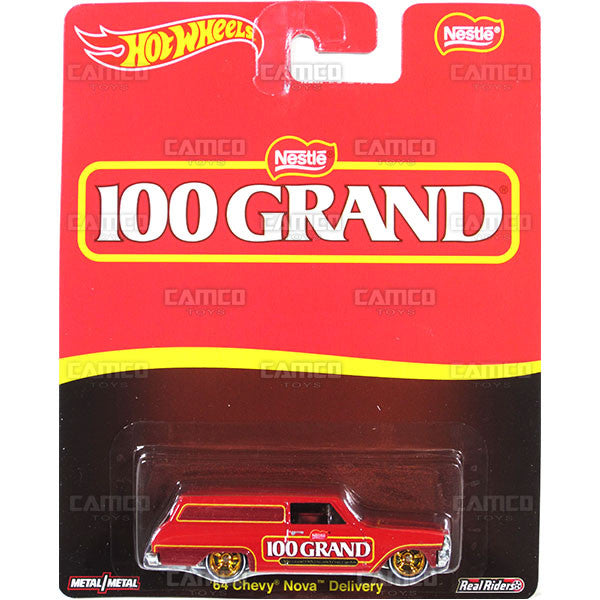 64 CHEVY NOVA DELIVERY (100 Grand) - from 2016 Hot Wheels Pop Culture A Case (NESTLE) Assortment DLB45-956A by Mattel.