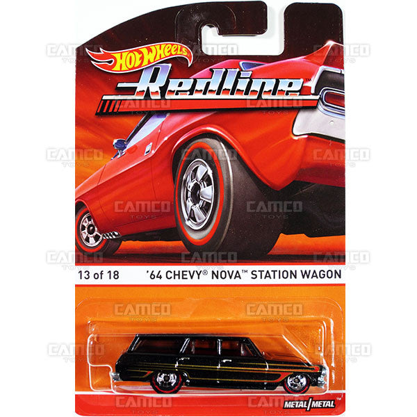 64 Chevy Nova Station Wagon - 2015 Hot Wheels Heritage F Case (Redline) Assortment BDP91-956F by Mattel.