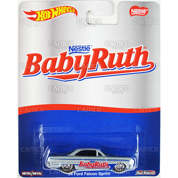 64 FORD FALCON SPRINT (Babyruth) - from 2016 Hot Wheels Pop Culture A Case (NESTLE) Assortment DLB45-956A by Mattel.