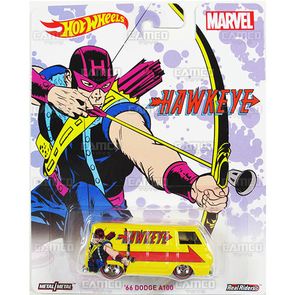 66 DODGE A100 (Hawkeye) - from 2016 Hot Wheels Pop Culture C Case (MARVEL) Assortment DLB45-956C by Mattel.
