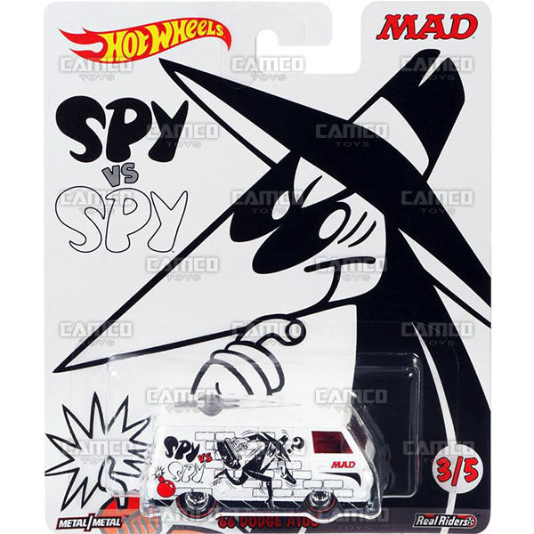 66 Dodge A100 Spy vs Spy (white) - 2017 Hot Wheels Pop Culture MAD MAGAZINE K Case Assortment DLB45-956K by Mattel.