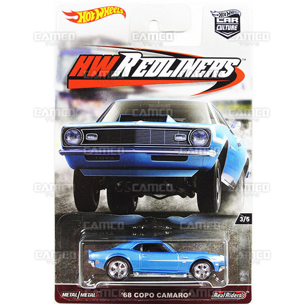 68 Copo Camaro - from 2017 Hot Wheels Car Culture G Case (REDLINERS) Assortment DJF77-956G by Mattel.