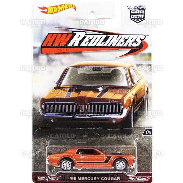 68 Mercury Cougar - from 2017 Hot Wheels Car Culture G Case (REDLINERS) Assortment DJF77-956G by Mattel.