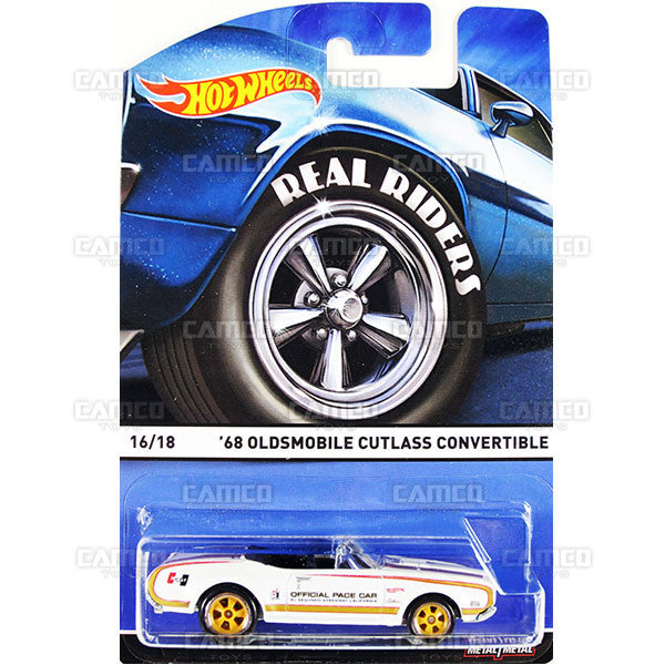 68 Oldsmobile Cutlass Convertible - 2015 Hot Wheels Heritage E Case (Real Riders) Assortment BDP91-956E by Mattel.