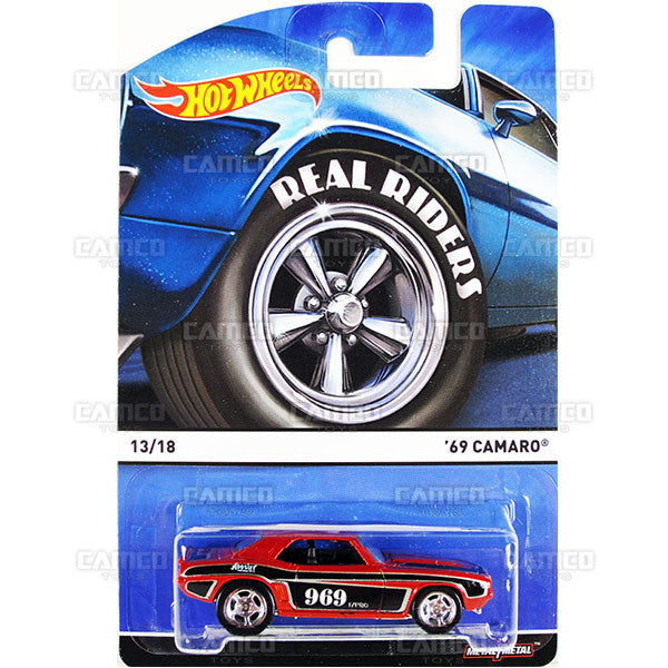 69 Camaro - 2015 Hot Wheels Heritage E Case (Real Riders) Assortment BDP91-956E by Mattel.
