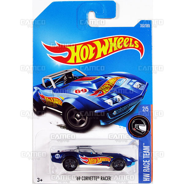 69 Corvette Racer #352 blue (HW Race Team) - 2017 Hot Wheels Basic Mainline Q Case assortment C4982  by Mattel.