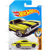 69 Dodge Charger 500 #95 yellow MOONEYES ( Muscle Mania) - from 2017 Hot Wheels basic mainline D case Worldwide assortment C4982 by Mattel.
