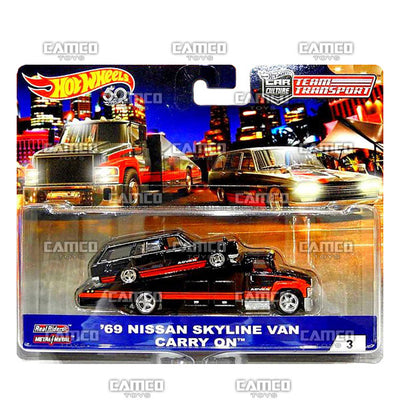 69 Nissan Skyline Van & Carry On - 2018 Hot Wheels Car Culture Team Transport A Case assortment FLF56 by Mattel.