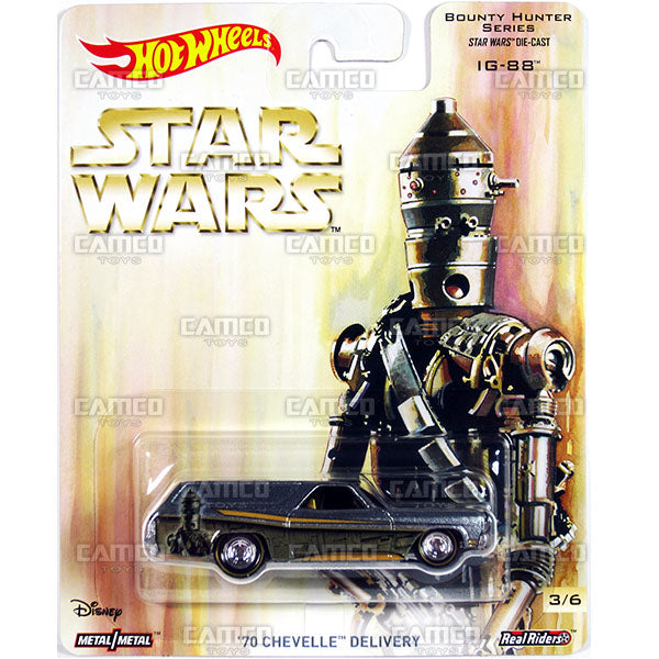 70 Chevelle Delivery (IG-88) - 2017 Hot Wheels Pop Culture L Case (Star Wars) Assortment DLB45-956L by Mattel.