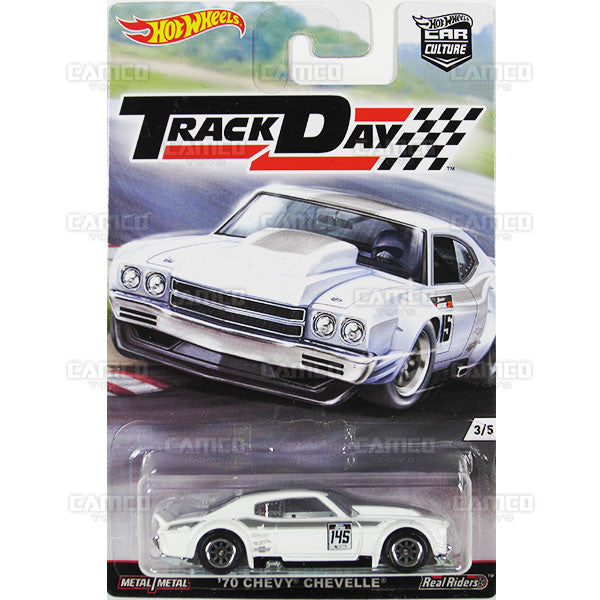 70 CHEVY CHEVELLE - from 2016 Hot Wheels Car Culture D Case (TRACK DAY) Assortment DJF77-956D by Mattel.