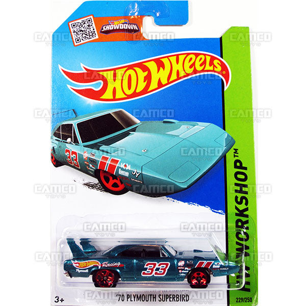 70 Plymouth Superbird #229 teal - 2015 Hot Wheels