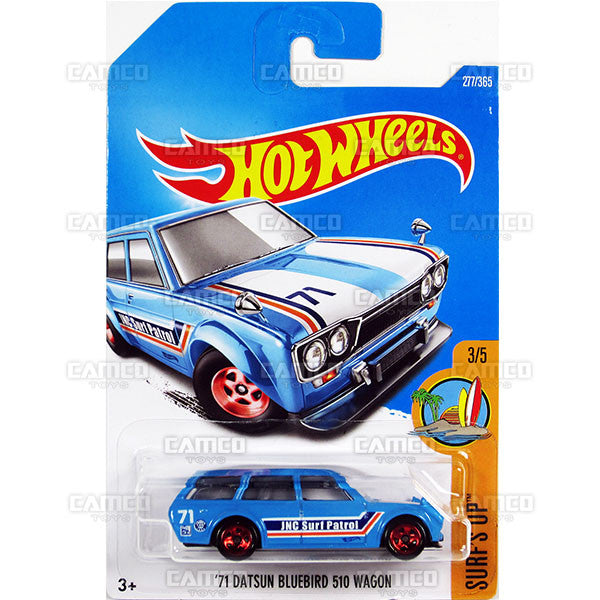 71 Datsun Bluebird 510 Wagon #277 blue (Surfs Up) - 2017 Hot Wheels Basic Mainline M Case - C4982