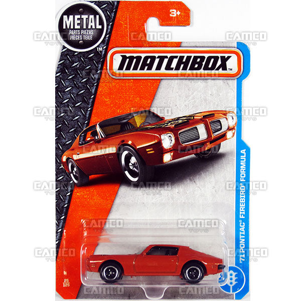 71 PONTIAC FIREBIRD FORMULA #25 - 2017 Matchbox Basic L Case Assortment 30782 by Mattel.