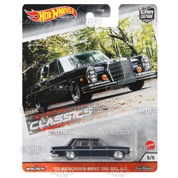 72 Mercedes-Benz 280 SEL 4.5 - 2020 Hot Wheels Premium Car Culture S Case MODERN CLASSICS Asortment FPY86-956S by Mattel.
