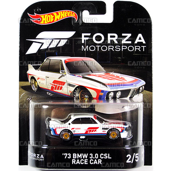 73 BMW 3.0 CSL Race Car (Forza Motorsport) - 2017 Hot Wheels Retro Replica Entertainment E Case assortment DMC55-956E by Mattel.