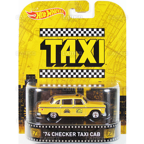 74 CHECKER TAXI CAB (Taxi) - 2015 Hot Wheels Retro Entertainment J Case BDT77-996J by Mattel