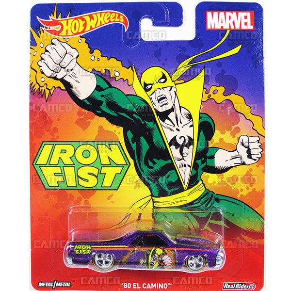 80 EL CAMINO (Iron Fist) - from 2016 Hot Wheels Pop Culture C Case (MARVEL) Assortment DLB45-956C by Mattel.