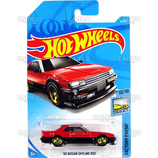 82 NISSAN SKYLINE R30 #6 red (Factory Fresh) - 2018 Hot Wheels Basic Mainline A Case Assortment C4982 by Mattel.