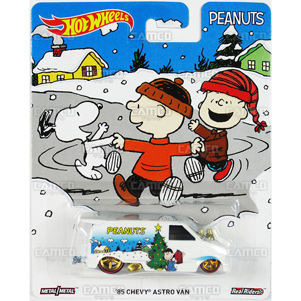 85 CHEVY ASTRO VAN (Snoopy's Christmas) - from 2016 Hot Wheels Pop Culture E Case (PEANUTS) Assortment DLB45-956E by Mattel.