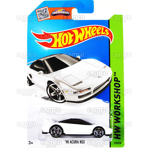 90 Acura NSX #218 white (HW Workshop) - 2015 Hot Wheels Basic Mainline C4982