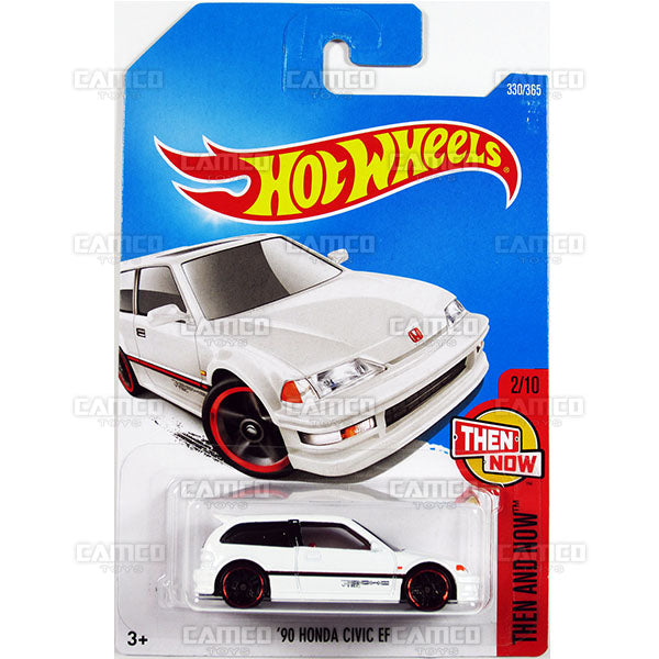90 Honda Civic EF #330 white (Then and Now) - 2017 Hot Wheels Basic Mainline P Case assortment C4982  by Mattel.