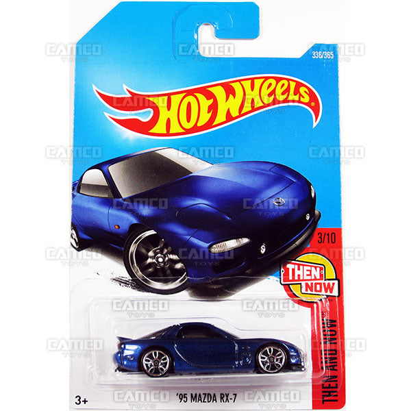 95 Mazda RX-7 #336 blue (Then and Now) - 2017 Hot Wheels Basic Mainline P Case assortment C4982  by Mattel.